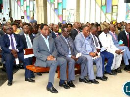 HH and other opposition leaders attending the launch of the National Dialogue and Reconciliation at the Cathedral of the Holy Cross
