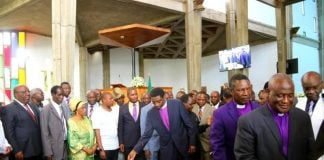 The launch of the National dialogue and reconciliation at the Anglican Cathedral of the Holy cross in Lusaka, Zambia