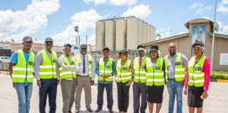 Economics Association of Zambia representatives visit Zambian Breweries' Lusaka plant.