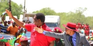 HH with Romeo Kango'mbe during campaign time
