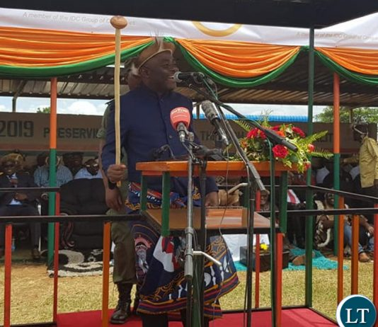 President Edgar Lungu was represented by the Home Affairs Minister who is also Acting Defence Minister Hon. Stephen Kampyongo.