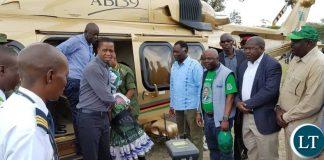President Lungu Arrives in Western Province