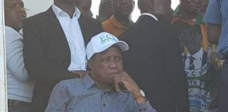 President Lungu at a Rally in Kafue