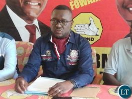 UPND Elections Chairperson Garry Nkombo