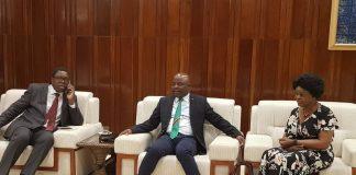 inister of Foreign Affairs Hon. Joseph Malanji with Home Afairs Minister Stephen Kampyongo with Zambia's Ambassador to Ethiopia Susan Sikaneta