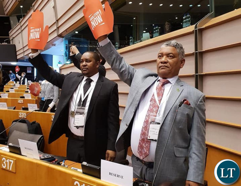 Given Lubinda at the 7th edition of the World congress against death penalty,