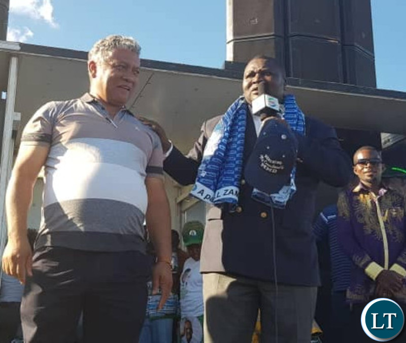 Raphael Nakachinda with Legals Affairs Minister Given Lubinda