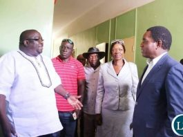 Kambwili , Masebo and HH at the prison to offer support to Sean Tembo