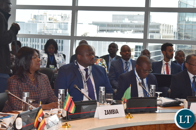Minister of National Development Planning Alexander Chiteme and his finance counterpart Margaret Mwanakatwe participating in the Africa Group 1 Constituency 18th Statutory Meeting on Thursday 11 April, 2019. PHOTO | CHIBAULA D. SILWAMBA | MNDP