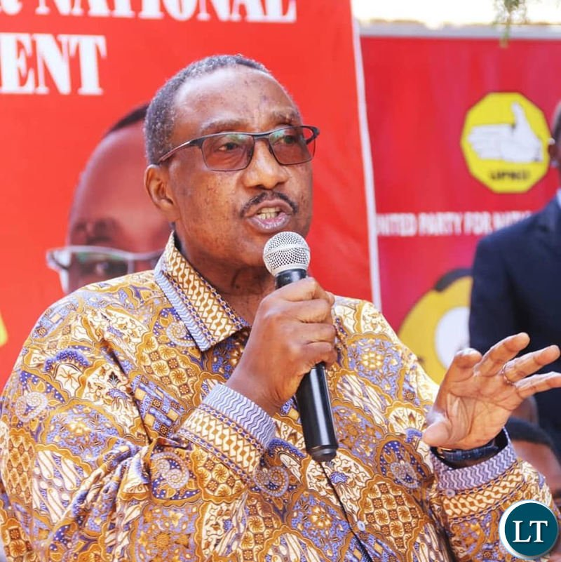GBM addressing a news conference at the UPND secretariat on Thursday, April 4th 2019