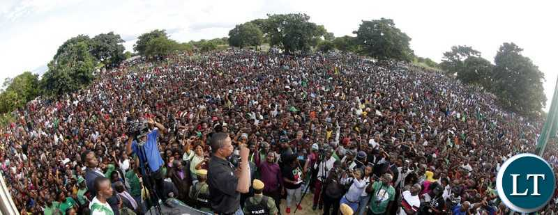 President Edgar Chagwa Lungu (centre) campaigns for Patriotic Front (PF) Bahati Constuency candidate Charles Chalwe at Kaole ground in Mansa on Saturday, April 6, 2019. PICTURE BY SALIM HENRY/STATE HOUSE ©2019
