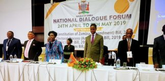 The official Opening of the National Dialogue by President Lungu