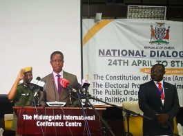 President Lungu officially Opening the National Dialogue