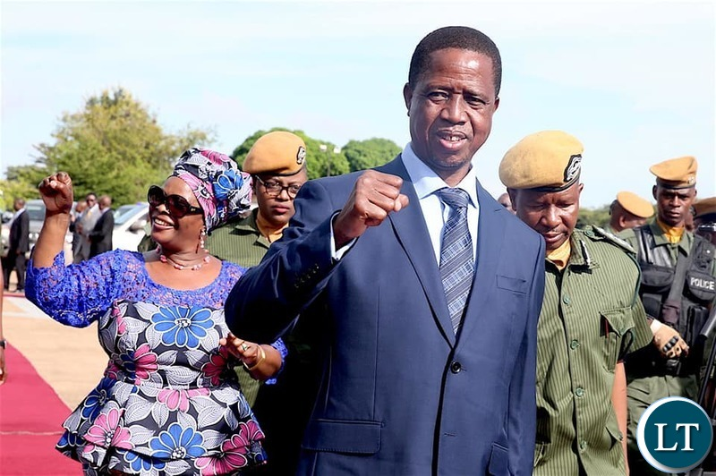 President Lungu and wife arrive for the Commonwealth Law Conference in Livingstone