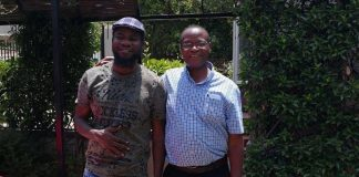 Prof Muna Ndulo with Pilato