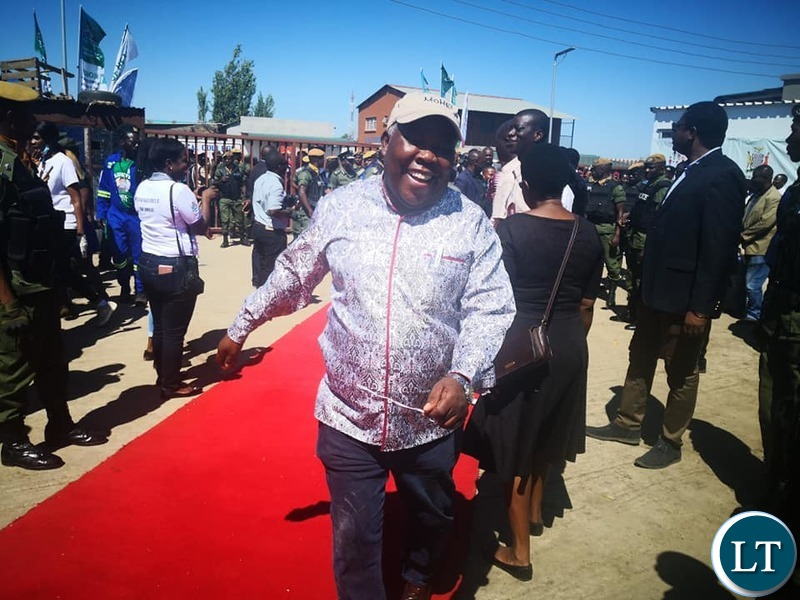 Presidential Affairs Minister Freedom Sikazwe at the launch of Community Market Initiative Health Services  at Soweto Market