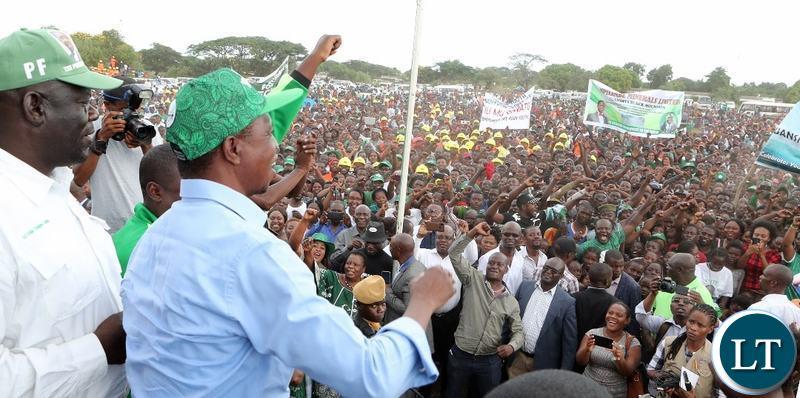 President Lungu on a campaign Trail in Luanshya