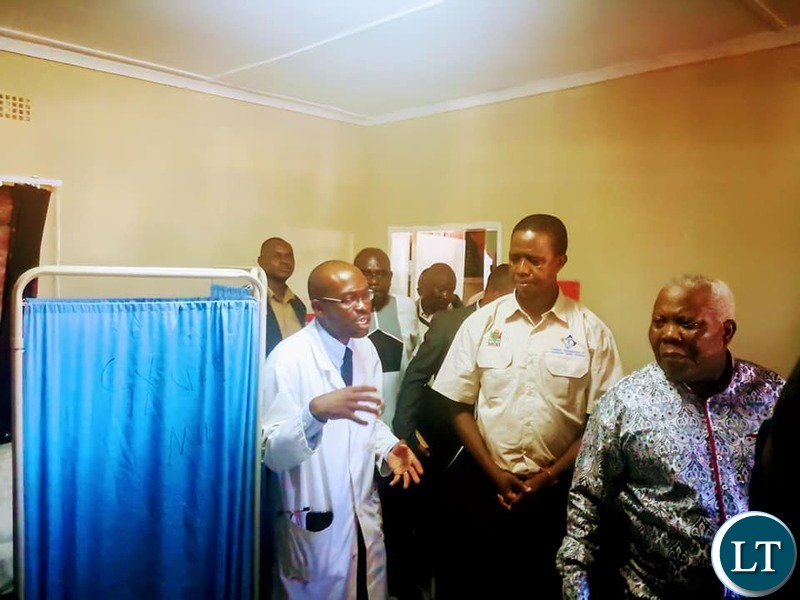 President Lungu  at the launch of Community Market Initiative Health Services  at Soweto Market