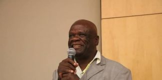 UPND party Secretary General Stephen Katuka addressing the Members