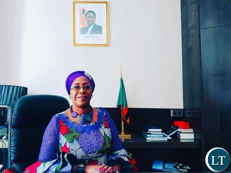 Zambia's Ambassador to France Dr. Christine Kaseba-Sata