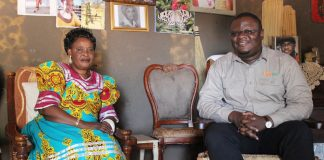 Her Royal Highness - Princes Kufuna with Mr Kaluba at her palace in Kalabo.