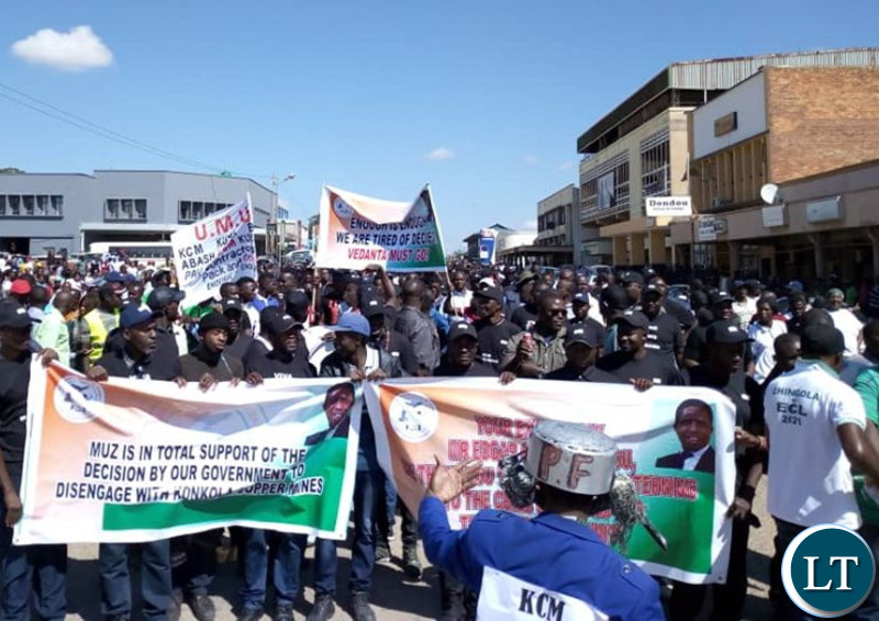 Mine Workers Union Solidarity  Demonstration in support of Government