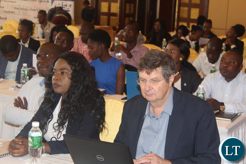 Participants at the Media Self Regulation Insaka following the deliberations
