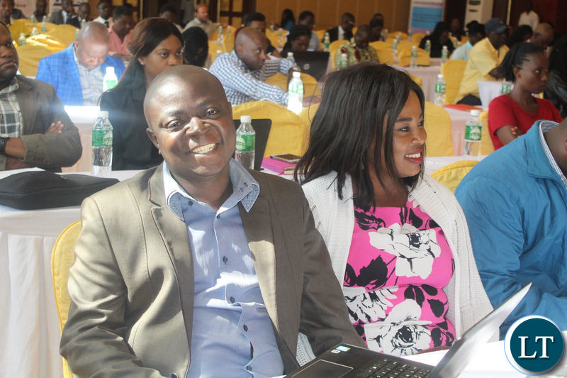 Some of the participants at the Media Self Regulation Insaka posing for the camera