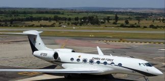 The G650 Gulfstream Ferrari private jet believed to cost around US$65 million