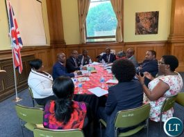 Mr. Mubanga Mwiko making a presentation at the Zambia High Commission in London