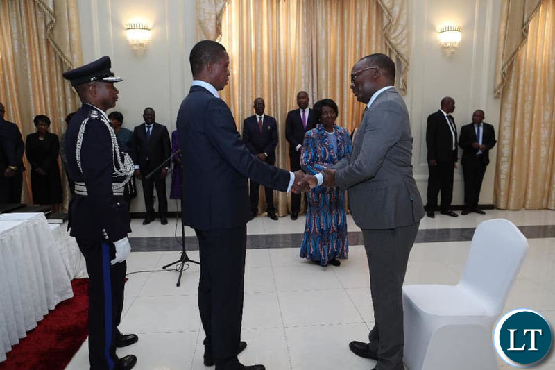 Isaac Chipampe at State House being Sworn in