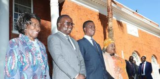 Isaac Chipampe at State House with President Lungu and Vice President Inonge Wina after being Sworn in