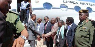 President Lungu on arrival in Ndola
