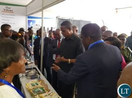 President Lungu at the CB Expo