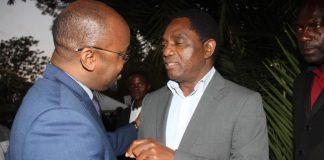 Sunday Chanda with UPND President Hakainde Hichilema