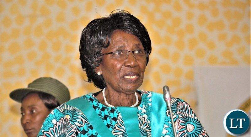 Vice President Inonge Wina