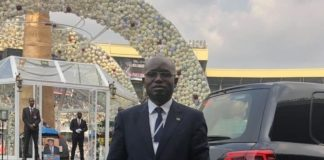 Special Assistant for Press & Public Relations, Amos Chanda. at the Funeral