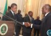 President Lungu Congratulating the Newly Appointed Minister of Finance