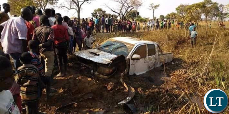 he scene of the accident involving Mr Felix Mutati and others