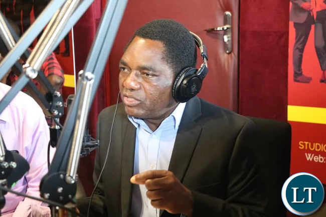 HH speaking during a radio programme on SUN FM