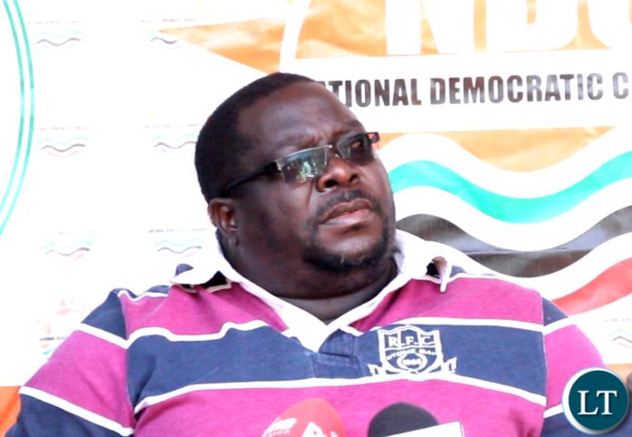 NDC Opposition leader Chishimba Kambwili