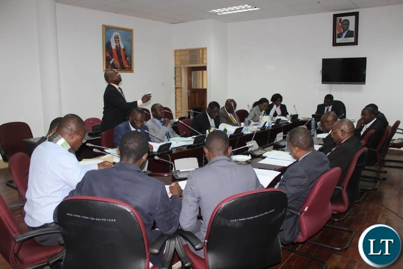 Parlimanentary Committee hearing stakeholders make submissions