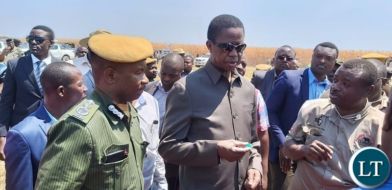 """President Lungu. """"It is sad that the hunger situation in some parts of the country is being politicised."""""""