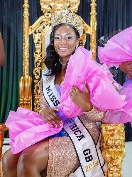 Cecilia Musonda crowned Miss Africa Great Britain 2019.