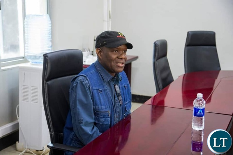 Socialist Party 2021 presidential candidate Dr Fred M'membe informing the Human Rights Commission that the police twiced denied the party an application to hold a rally in Matero, Lusaka