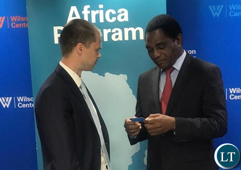 HH meeting with investors in the US after he concluded his presentation on State of Play in Zambia