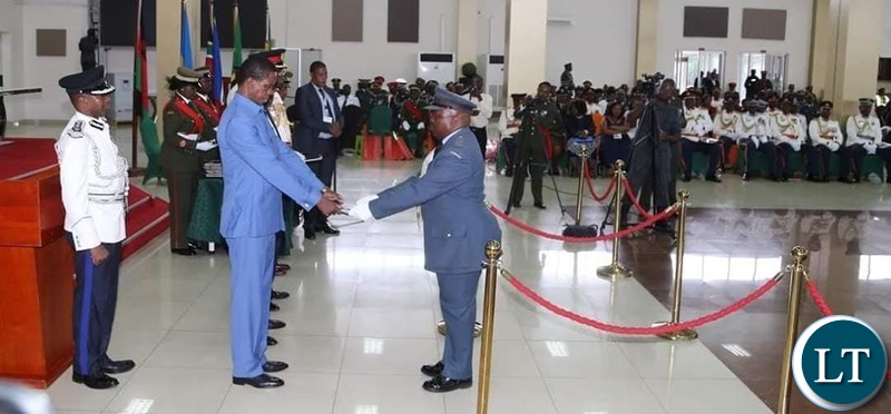 President Lungu at the Combined Graduation Ceremony of the 22nd Command Staff Course and 45th University of Zambia Defense and Security Studies on Thursday 28 November, 2019. Pictures by ROYD SIBAJENE/ZANIS