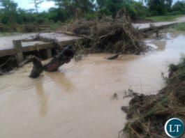 Makoye Bridge In Monze Washed Away By Flash Floods