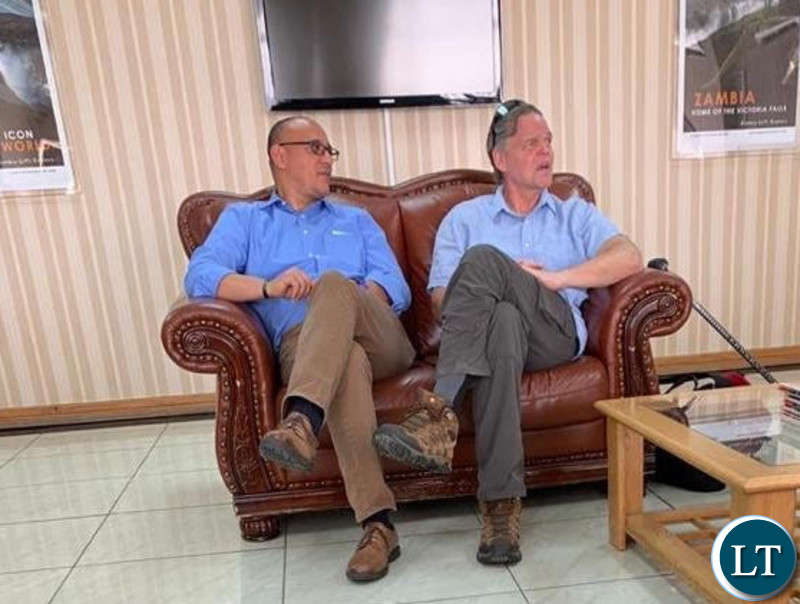 Ambassador Daniel Foote in the VIP Lobby at KKIA awaiting departure last Thursday
