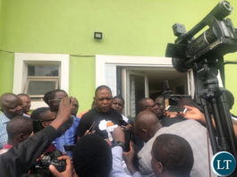 Kalusha Bwalya briefs Journalists at Football House after filing in his nomination papers